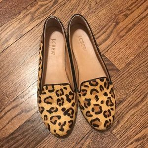 J. Crew Leopard Loafers - 8.5
